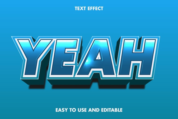 Sí plantilla de efecto de texto