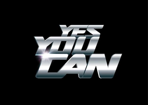 Sí, puedes poner letras. motivación y soporte de plantilla de impresión. estilo deportivo de acero y cromo. diseño.