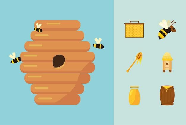 Siete iconos de apicultura