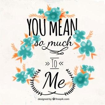 Significas mucho para mí, tarjeta
