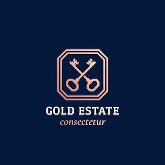Signo abstracto de bienes raíces o logotipo