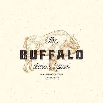 Signo abstracto de búfalo, símbolo o plantilla de logotipo.