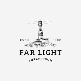 Signo abstracto de luz lejana, símbolo o plantilla de logotipo.