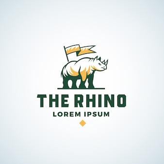 Signo abstracto de rhino, símbolo o plantilla de logotipo.
