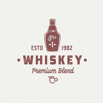 Signo abstracto de whisky de mezcla premium