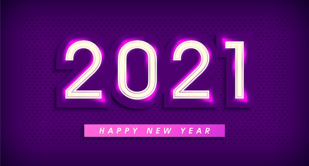 Signo de banner de año nuevo.