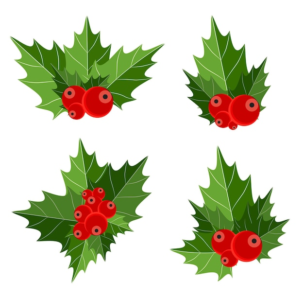 Signo de baya de navidad. aislado. ilustración de vector. eps10