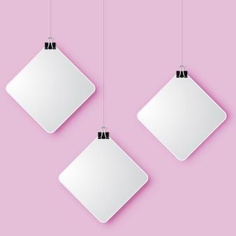 Signo cuadrado 3d diseño de arte moderno papel