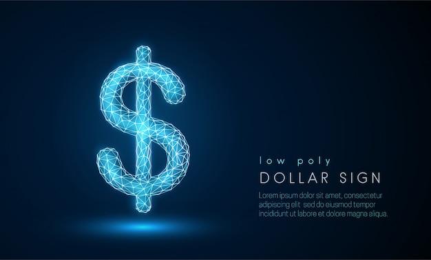 Signo de dólar abstracto