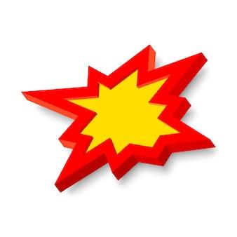 Signo de explosión con estilo 3d