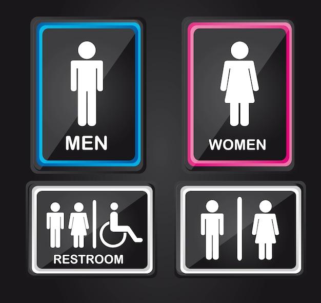 Signo de hombres y mujeres