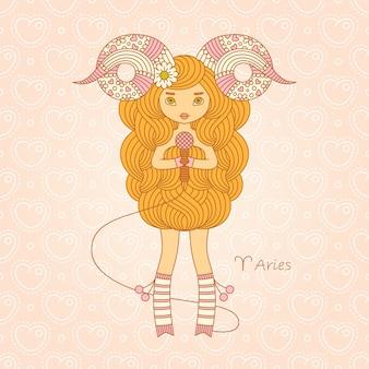 Signo del horóscopo del zodiaco aries.