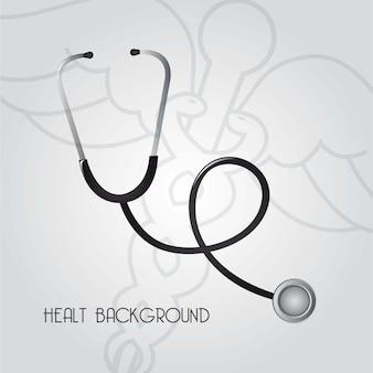 Signo de medicina sobre fondo gris ilustración vectorial