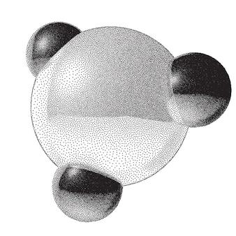 Signo de molécula con gradiente dotwork