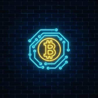 neon sign bitcoin)