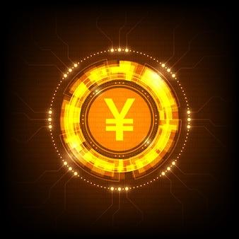 Signo de moneda yuan digital