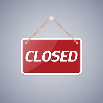 Signo de negocios cerrado