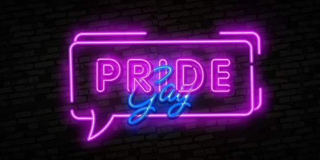 Signo de neón del orgullo gay