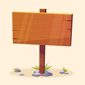 Signo de patio de dibujos animados