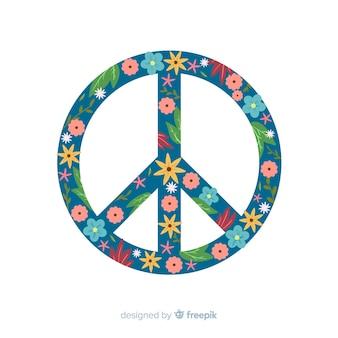 Signo paz floral
