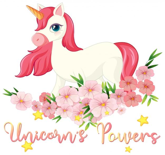Signo de poder unicornio sobre fondo blanco.