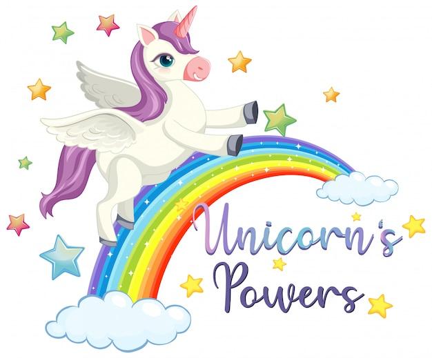 Signo de poder de unicornio sobre fondo blanco.