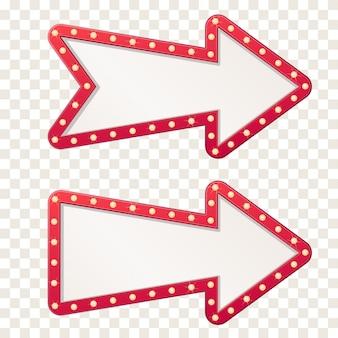 Signo de tablero de luz de marquesina de flecha