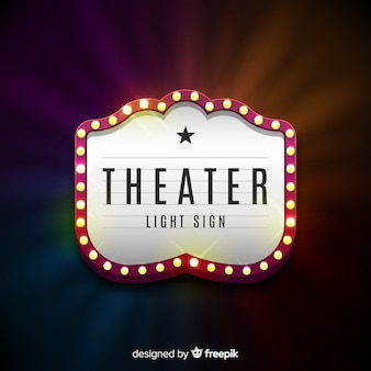 Signo de teatro retro ligero