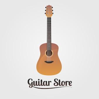 Signo de tienda de guitarra