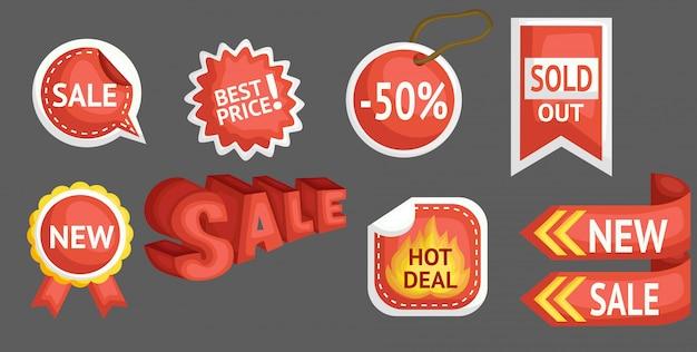 Signo de venta y descuento