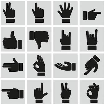Signos con las manos vector gratuito
