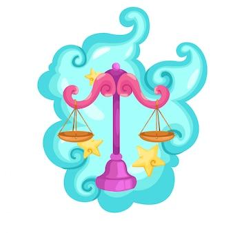 Signos del zodiaco - ilustración vectorial libra