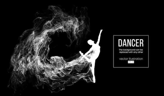 Silueta abstracta de una bailarina sobre fondo oscuro