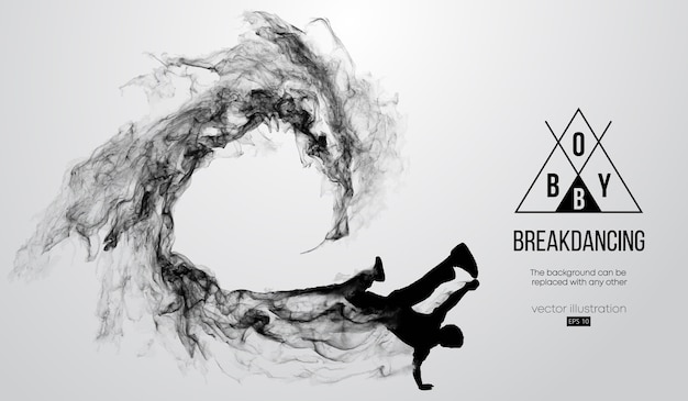 Silueta abstracta de un breakdancer