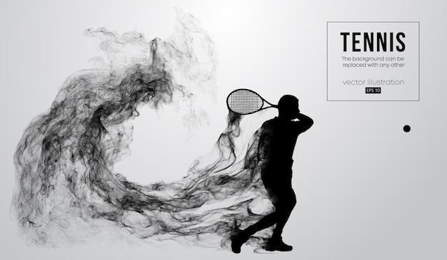 Silueta abstracta de un hombre jugador de tenis