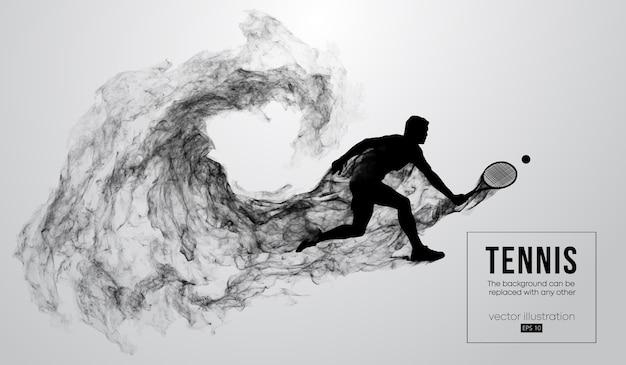 Silueta abstracta de una ilustración de hombre jugador de tenis