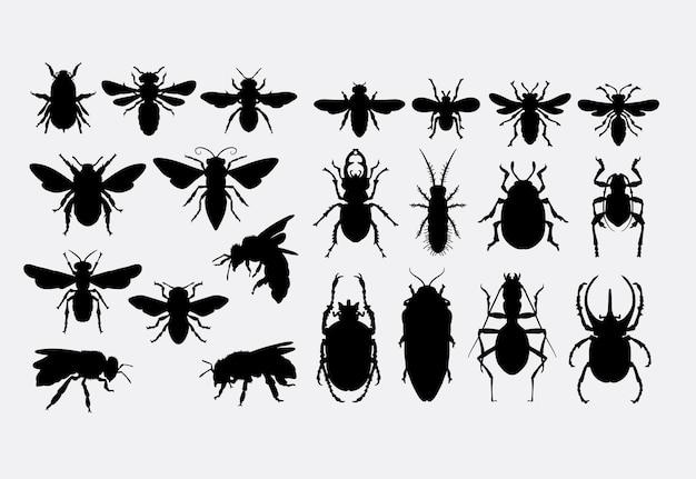 Silueta de animal de insectos