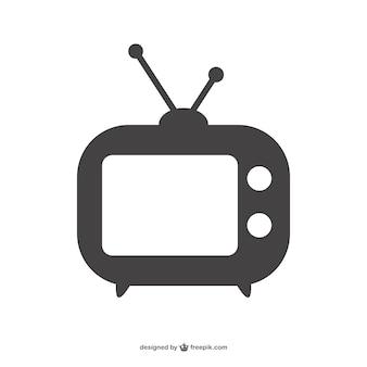 Silueta de aparato de televisión