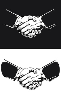 Silueta apretón de manos acuerdo comercial acuerdo de contrato