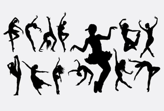 Silueta de baile moderno
