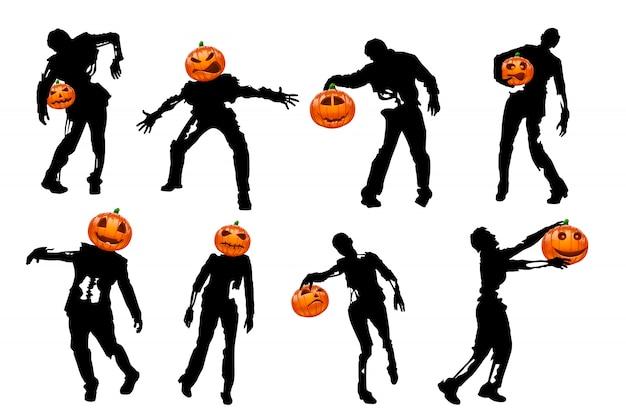 Silueta de calabaza de halloween