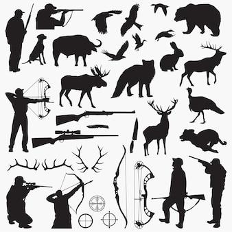 Silueta de cazador