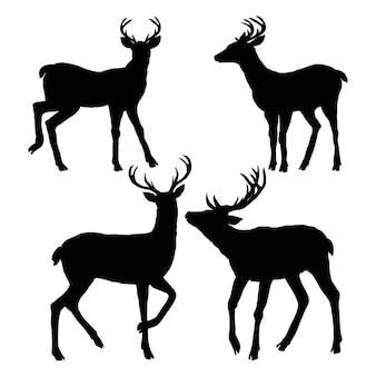 Silueta de ciervo, vector, ilustración
