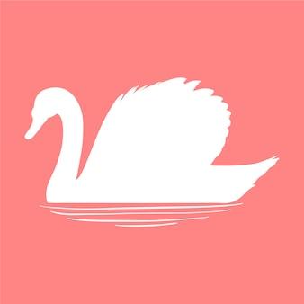 Silueta de cisne en el agua