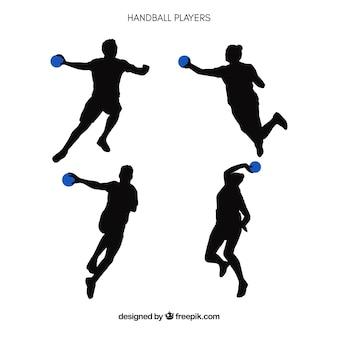 Silueta de jugadores de balonmano