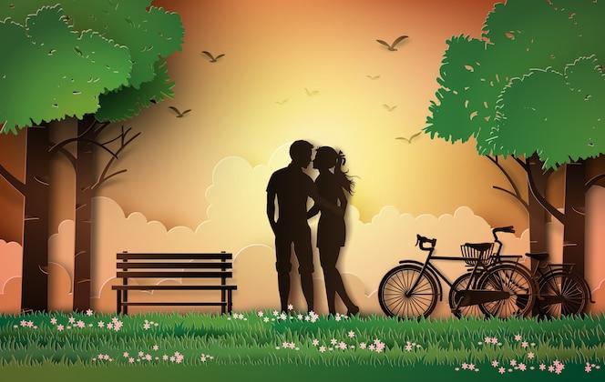 Silueta de pareja