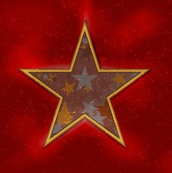 Silueta de hermosa estrella sobre fondo de cielo. ilustración de vector. eps10