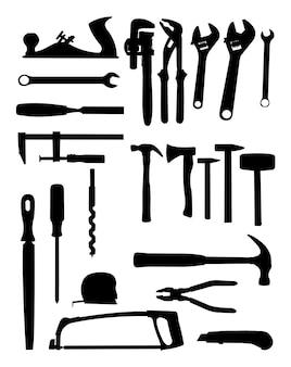 Silueta de herramientas