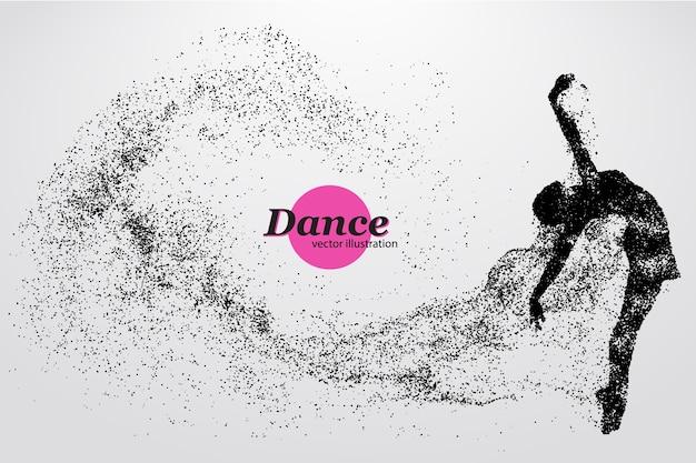 Silueta de una ilustración de bailarina
