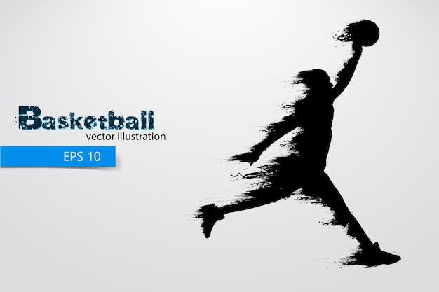 Silueta de un jugador de baloncesto. ilustración